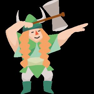 vrouw met hamer